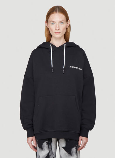 Honey Fucking Dijon Show Me Love Hooded Sweatshirt in Black