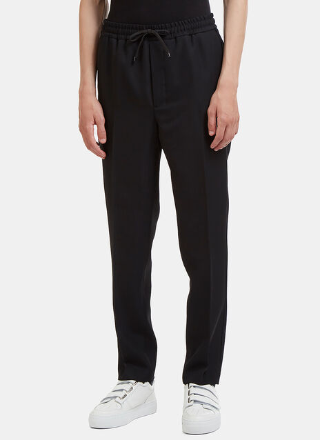 Elasticated Straight Leg Suiting Pants