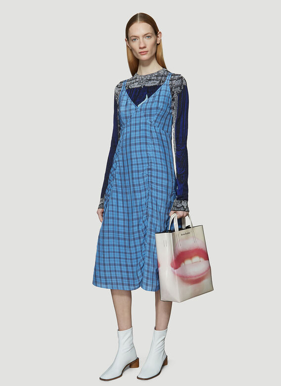 Acne Studios Check Slip Dress