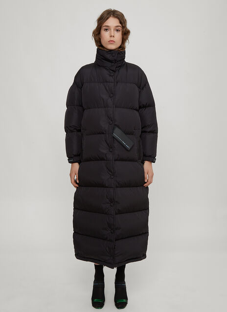 Prada Nylon Long Padded Down Coat