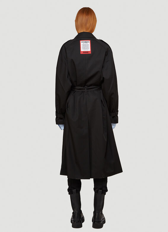 Vetements Logo-Patch Trench Coat 4