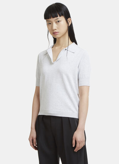 Maison Margiela Short Sleeve Knit Polo Shirt