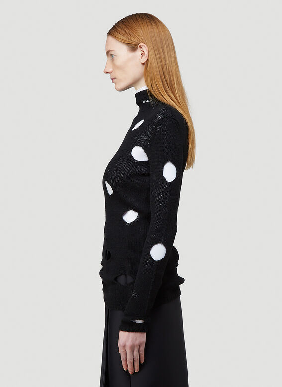 Prada Cut-Out Turtleneck Sweater 3