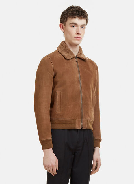 Saint Laurent Shearling Teddy Aviator Jacket