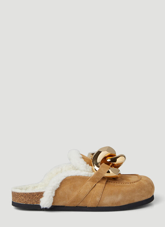 JW Anderson Chain Shearling Loafers 1