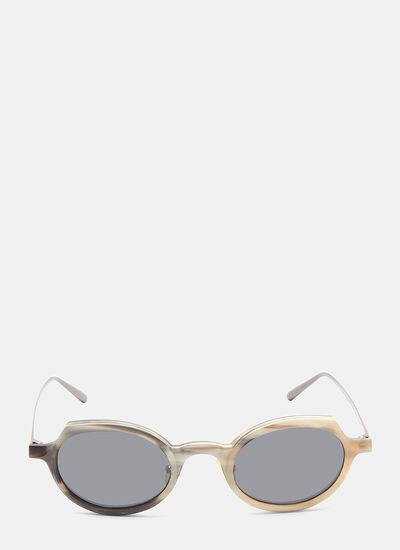 Rigards RG0090 Horn Oval Sunglasses