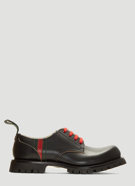 Gucci Arley Leather Lace-Up Shoes