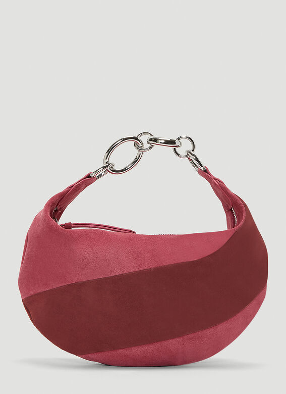 By Far Bougie Suede Handbag in Red