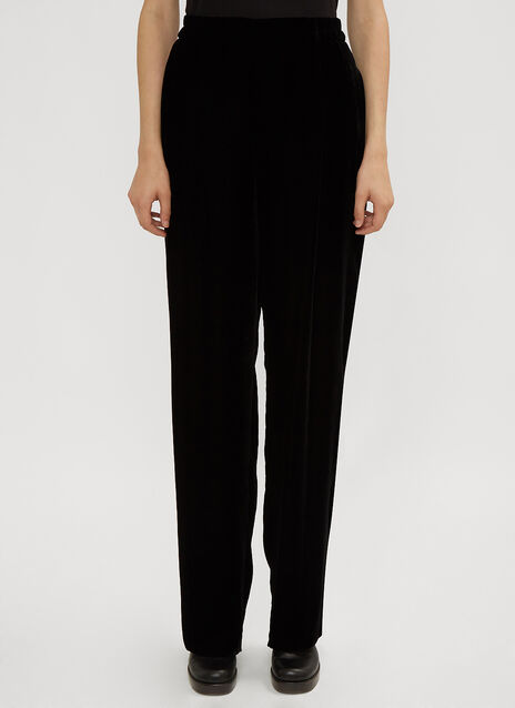 Stella McCartney Velvet Wide Leg Trousers