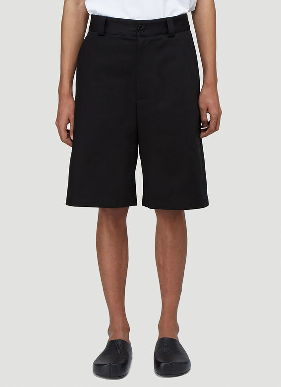 Jil Sander+ TROUSER 07 WORKWEAR SHORTS - RAW COTTON HERRINGBONE PLUS 1
