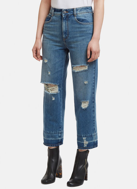 Stella McCartney Distressed Cropped Jeans