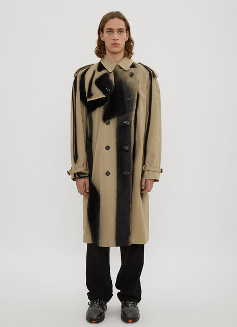 Maison Margiela Spray-Effect Twill Trench Coat