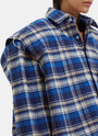 Vetements Football Shouldered Checked Flannel Shirt