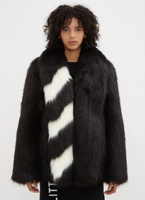Off-White Fake Fur Rap Jacket