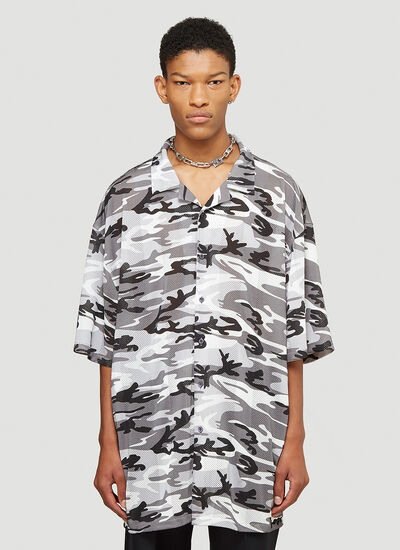 Balenciaga Oversized Short-Sleeved Shirt