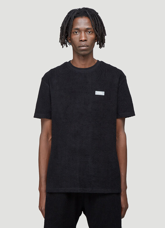 """032C """"Topos"""" Shaved Terry T-Shirt Black 100% CO 1"""