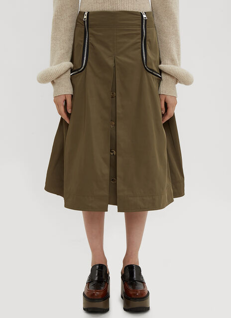 JW Anderson Safari Two Way Zipper Skirt