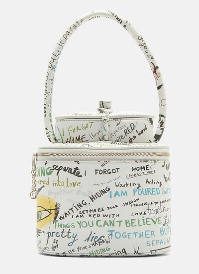 Maison Margiela Tea Container Writing Print Handbag