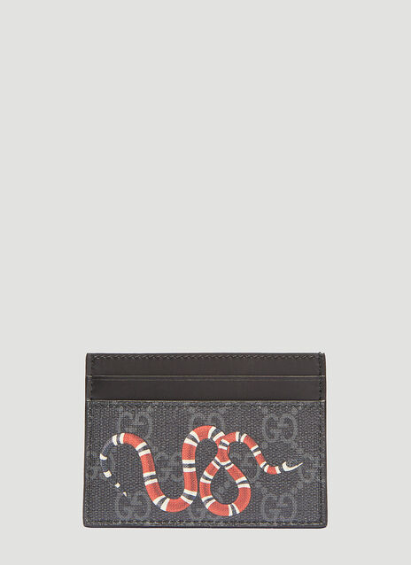 Gucci Kingsnake GG Supreme Print Card Case