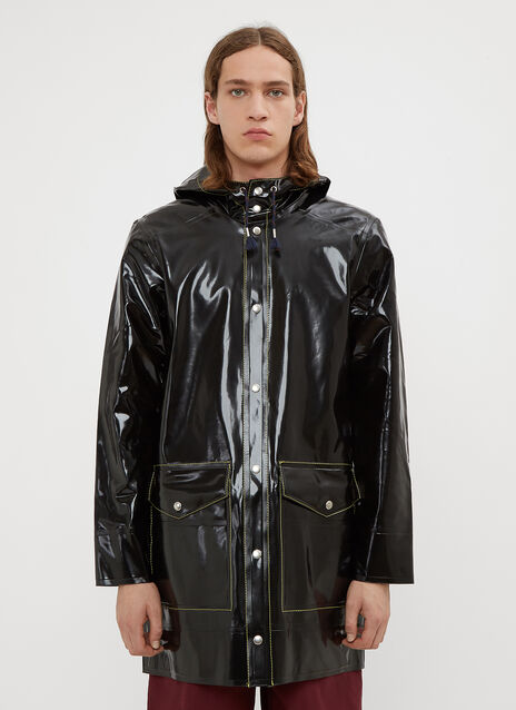 Marni X Stutterheim Rubberized Cotton Trench Coat