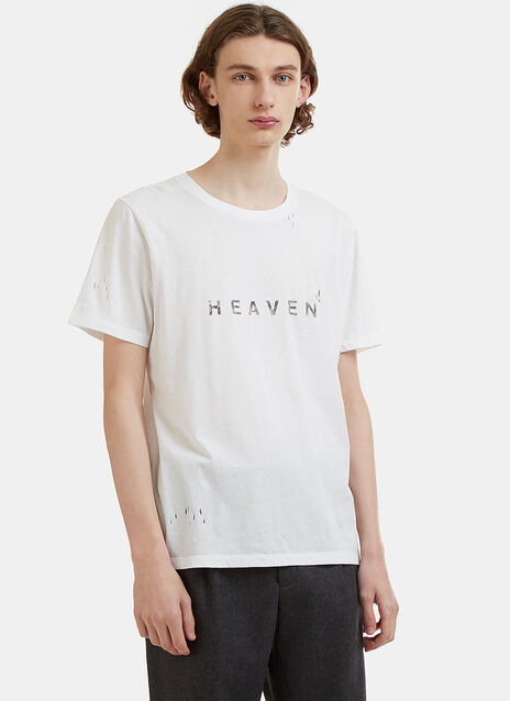 Saint Laurent Heaven Crew Neck Short Sleeved T-Shirt