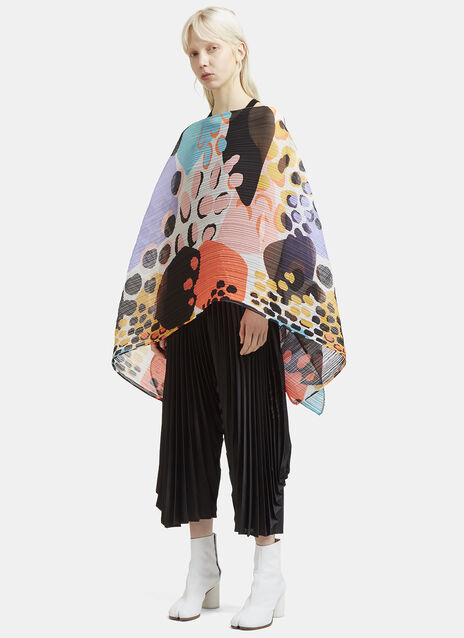 Pleats Please Issey Miyake Pleated Madame Wildlife Cover Up