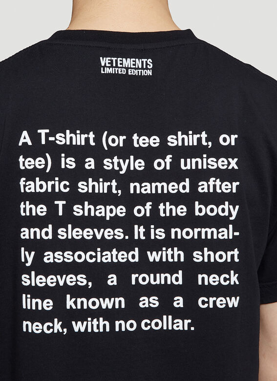 Vetements DEFINITION T-SHIRT R 5