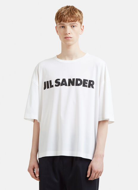 Jil Sander Exposed Seam Logo T-Shirt