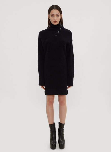 Atlein Asymmetrical Neck Sweater Dress