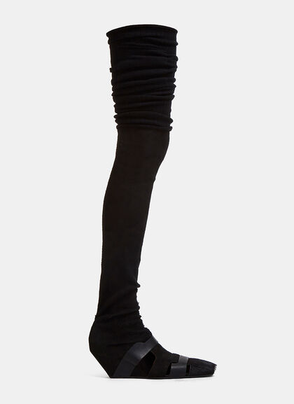 Image of Thigh-High Wedged Pumps