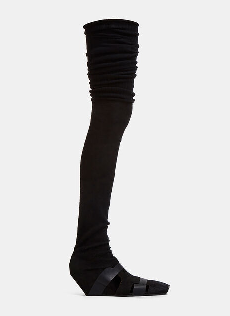 Rick Owens Thigh-High Wedged Pumps