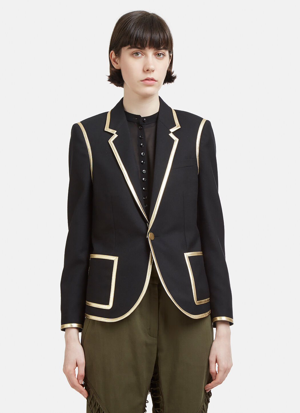 Gold Edge Jacket Saint Laurent Outlet Online Clearance Top Quality New Style sDb2fO7gS