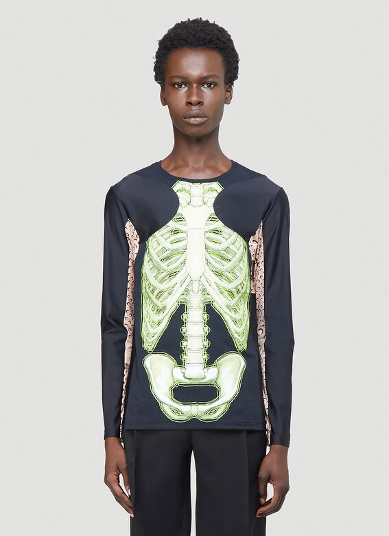 Marine Serre Skeleton Long-Sleeved T-Shirt 1