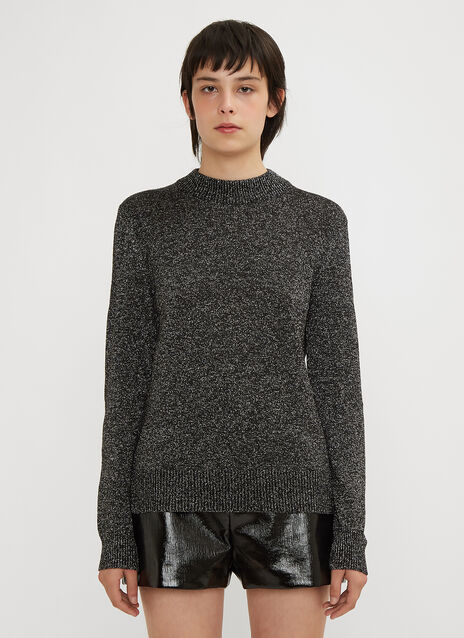 Saint Laurent Lurex Crew Neck Sweater