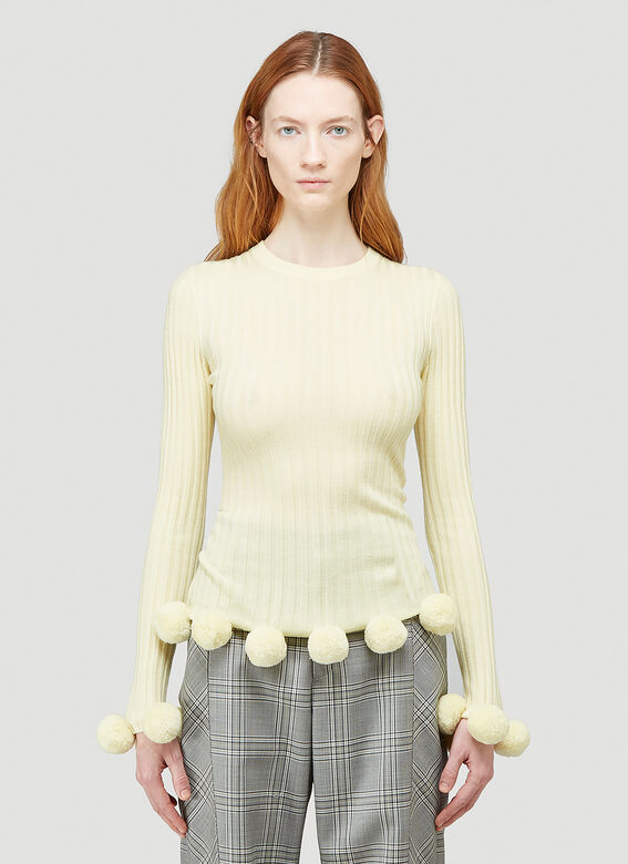 JW Anderson Pompom Ribbed Sweater 1