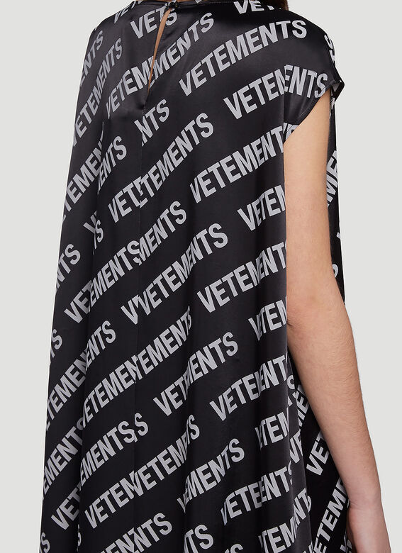 Vetements ALL-OVER LOGO SUMMER DRESS 5