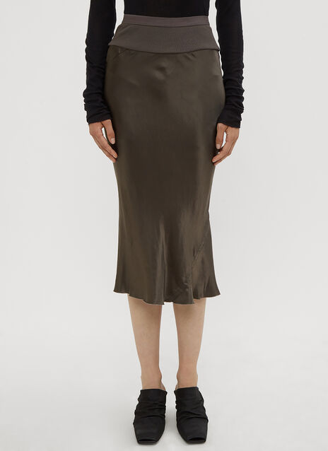 Rick Owens Knee Length Bias Skirt