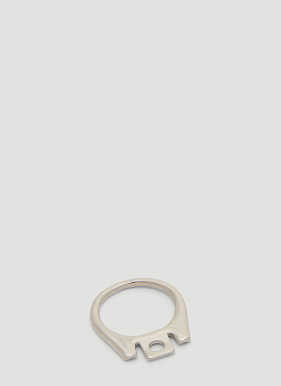 Can Tab Ring In Silver by Raf Simons