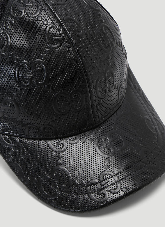 Gucci OVERSIZED EMBOSSED GG TENNIS TRUCKER CAP 5