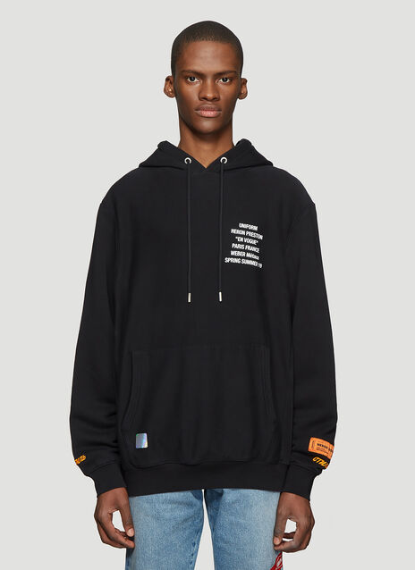 Heron Preston Hooded Worker Print Sweater