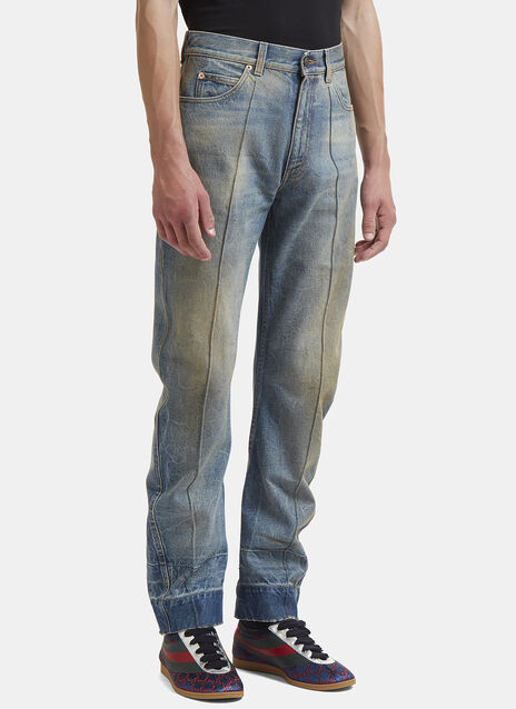 Gucci Distressed Stone Washed Jeans