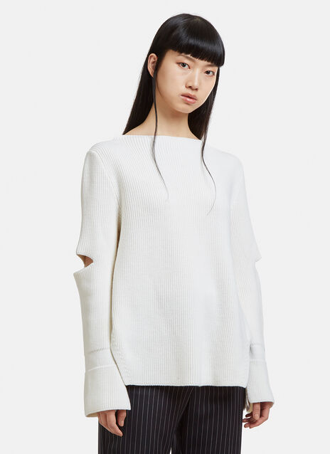 Stella McCartney Cut-out Ribbed Sweater