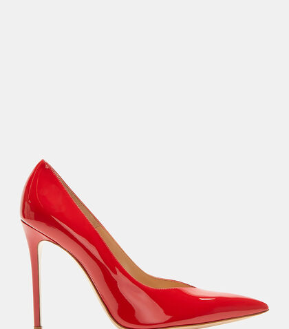 Paris Deep-Cut Heeled Patent Pumps