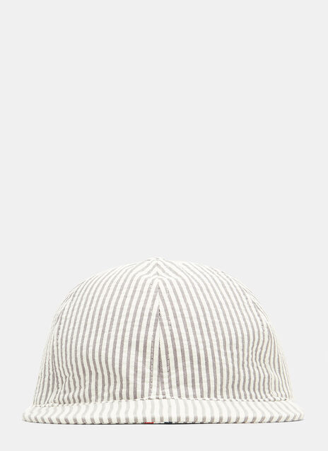 Thom Browne Striped Seersucker Cap