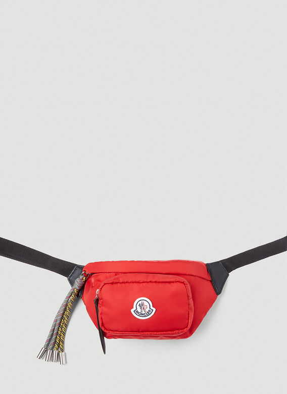Moncler Leathers Felicie Belt Bag in Red