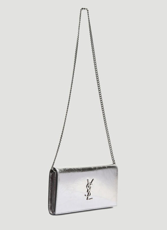 Saint Laurent Metallic Kate Cross Body Bag
