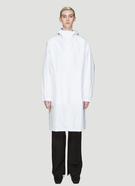 Helmut Lang By Parley For The Oceans Recycled Hooded Nylon Raincoat