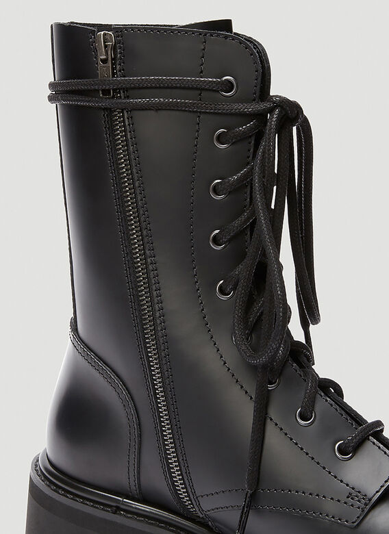 Vetements LACE-UP MILITARY BOOTS 5
