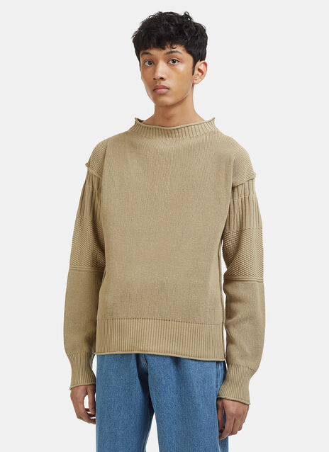 Maison Margiela Patchwork Knit Sleeve Sweater