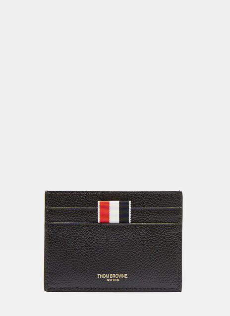 Thom Browne Asymmetric Patent Striped Card Holder
